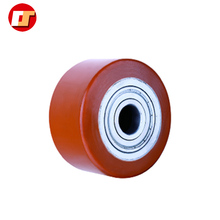 Durable Heavy Duty PU Roller with Nylon Center for Forklift