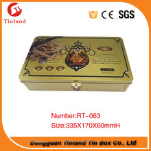 Food grade metal handle pizza box