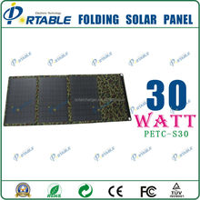 China manufacturer portable monocrystalline silicon solar panel 30W solar cell sheet