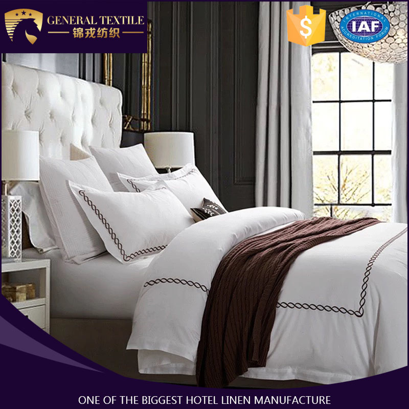 Cheap embroidery bed linen, embroidery bed sheet for hotel/home