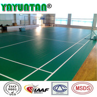 Muti-purpose badminton court sports flooring