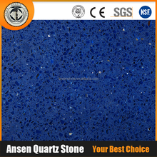 Cut to Size Crystal Blue Quartz Stone Quartz Slab Galaxy Glass Chips Table Tops Wholesale