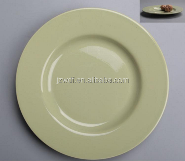 Hotel restaurant cheap round ceramic shallow pie plate wholesale from China