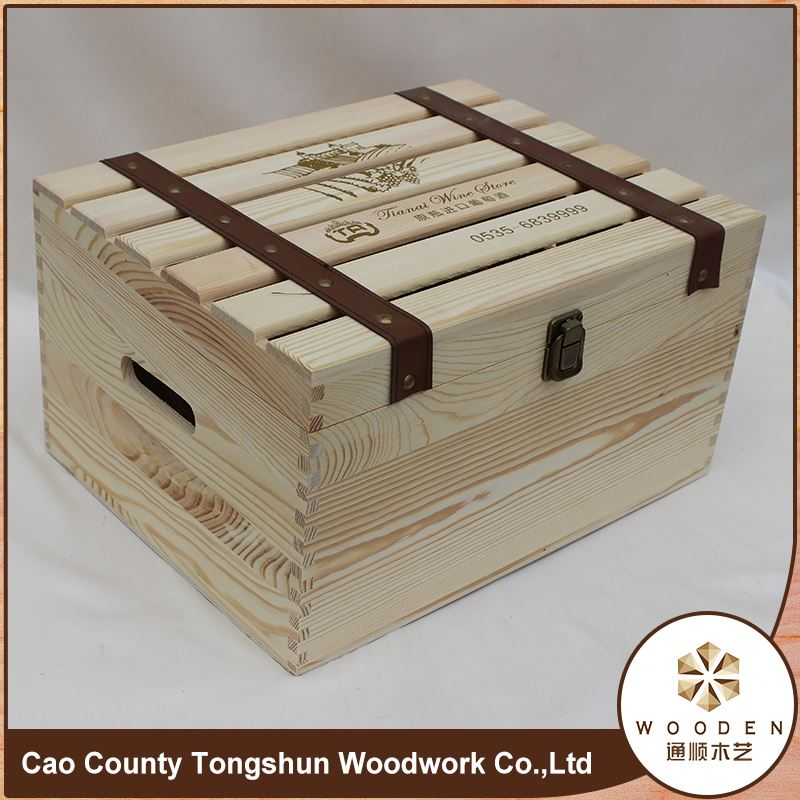 Recyclable MDF Wooden Wine Carrying Case Gift Box