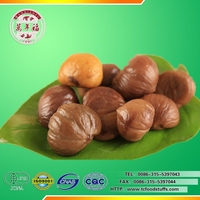 hot saling roasted and peeled chestnut snack food ready to eat