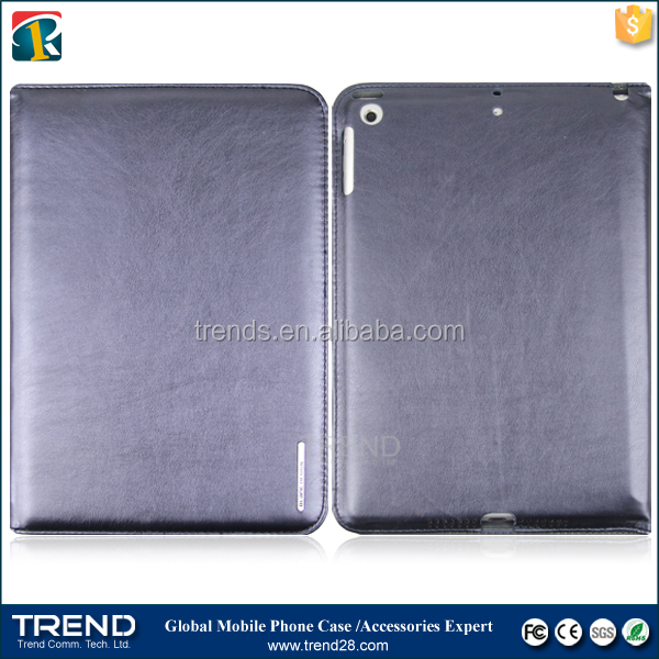 promotion low price folio pu wallet leather case for ipad mini
