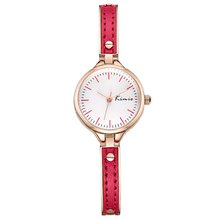 pictures of fashion girls lady watches, oem leather alloy case Stainless Steel women quartz wrist watch
