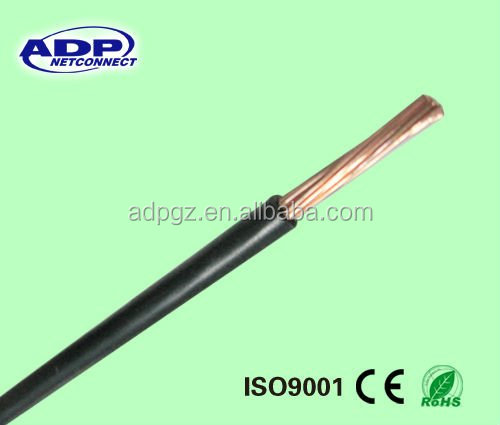 Single core copper /CCA pvc insulated electrical cable BV BVR power cable
