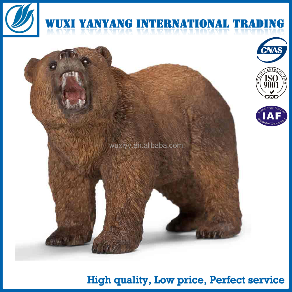 Design Brown Bear Plastic Wild Animals Toys Set/Simulation PVC Forest Animal Stuffed Figure Jungle