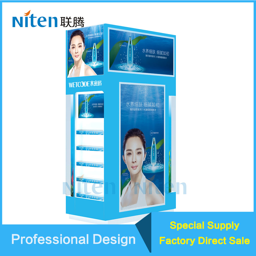 MDF Exhibition Display Stand for Garments Stores Black Color MDF Showcase