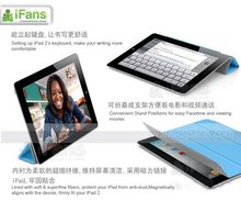2012 wholesale best mobile Leather smart cover for Apple New iPad 3 iPad 2,with back case in retail package