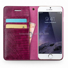 cellphone genuine leather wallet case with cash card holder