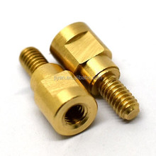 Male-female brass standoff screw for furniture spare parts