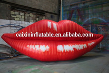 inflatable giant red lips/ inflatable customized red lips model/ iniflatable cartoon red lips for advertising