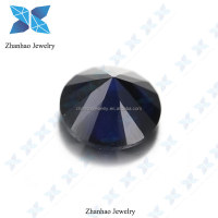 round diamond machine cut dark black blue 114# synthetic spinel