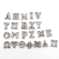 Cheap Price 5MM-8MM Silver Greek Letter Floating Locket Charms