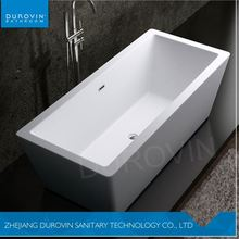 Hot bathroom soaking tubs with drain contemporary tub glossy white rectangle bathtub tub from manufacturer