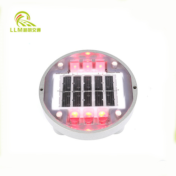 Great variety solar power road safety light 8 leds flash road marker