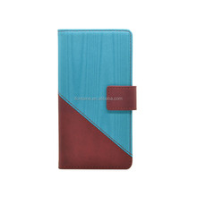 PU Leather Flip Folio Wallet Case with Stand Feature for Sony Xperia X