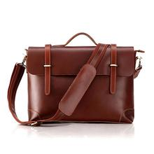 Hot Selling Genuine Leather Briefcase Japan & Korea Style , Laptop Bag Men Leather Executive Bag #7082B