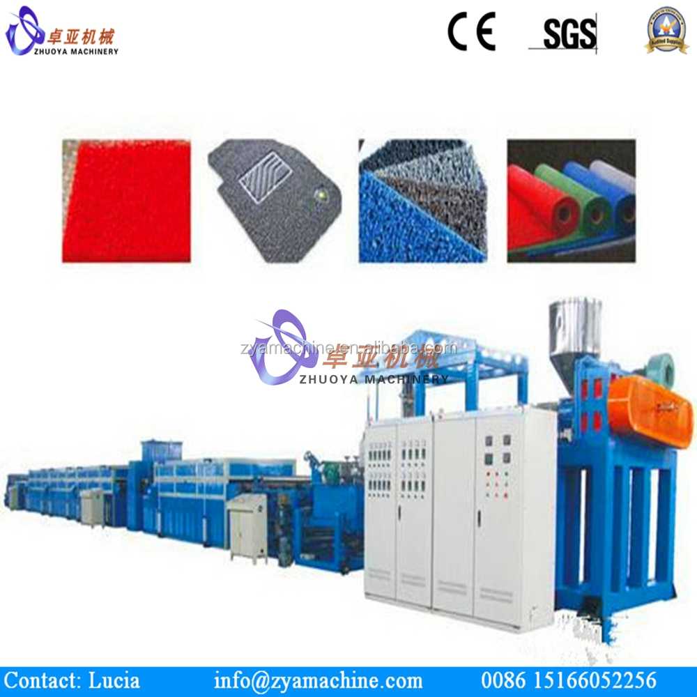 PVC Double Colored Car Coil Mat Carpet Extruder Production Line