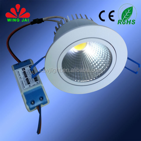 Energy saving long lifespan epistar cob centre adjustable round recessed led down light 7w