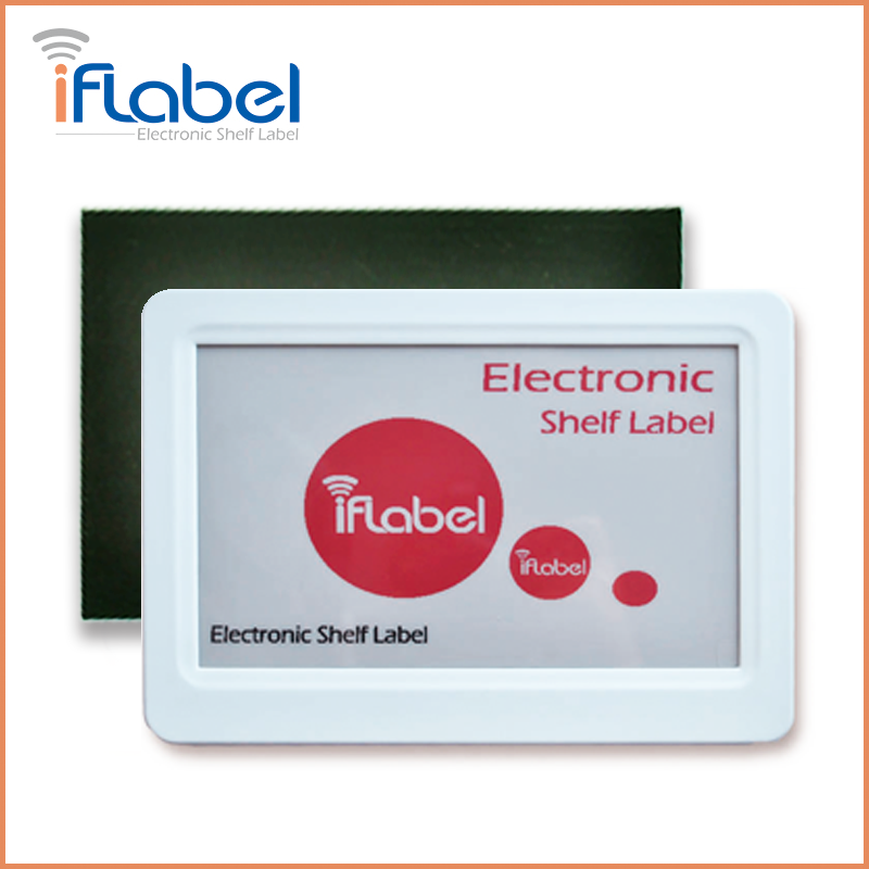 L014 IfLabel 7.5 inch Black&White Red color Single-side with White Frame digital price tag