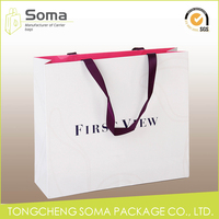 Good quality classical luxury paper gift bag for packaging
