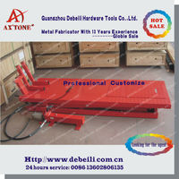 Pneumatic and Manual Hydraulic Scissor Motorcycle Lift Table