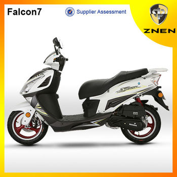 Chinese Falcon sport 25km/h and 45km/h gas scooter electric scooter motorcycle and parts
