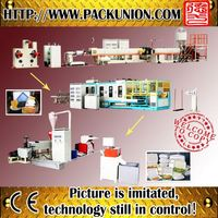 Plastic expanded disposable plate making machine