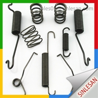 Carbon Steel Double Coil Torsion Spring hair clip formTorsion Spring