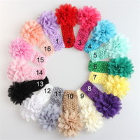 2015 wholesale top baby crochet headband with the flower