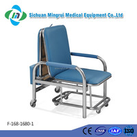 F-168-1680 stainless steel folding accompany chair