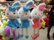 long legs rabbit plush toy/lovely girl toy /stuffed rabbit with skirt