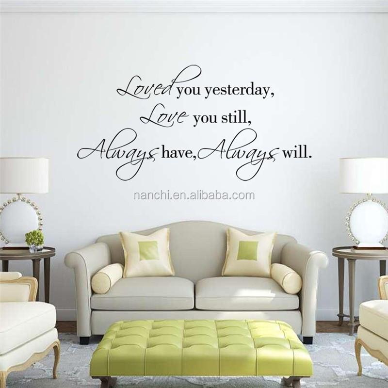 Engels spreuken liefde muurstickers gesneden zitkamer slaapkamer ...