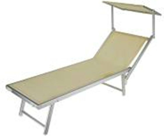 Chaise pliante beach lounge soleil chaise longue avec - Chaise longue avec pare soleil ...