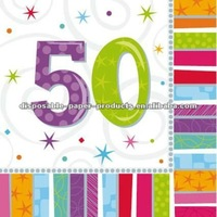 Wholesale 50TH RADIANT BIRTHDAY NAPKINS/Radiant Birthday Tableware