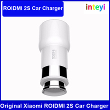 Original Xiaomi ROIDMI 2S 2 5V 3.8A Bluetooth Handfree Music MP3 Player FM Dual USB Car Charger For iPhone 7 Plus 5 5S SE 6 6S E