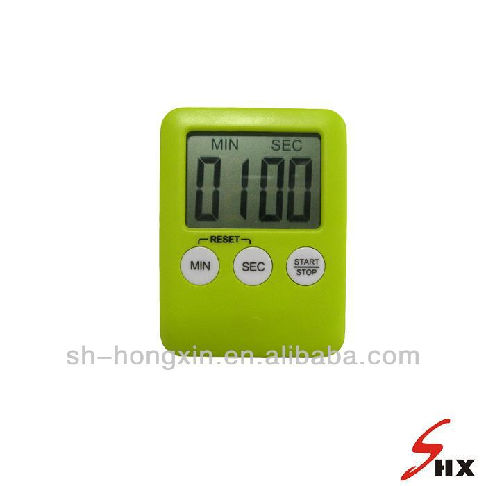 Tiny MP3 type portable green color LCD digital timer 99 MIN 59 SEC with magnet