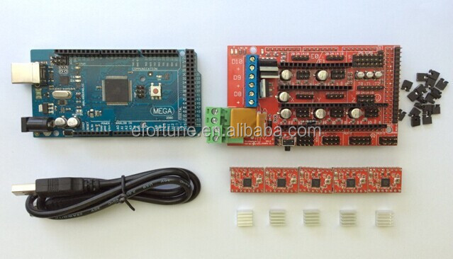 Promotion !!! Reprap Ramps 1.4 3D Printer Kit:Mega 2560 R3+RAMPS 1.4+A4988