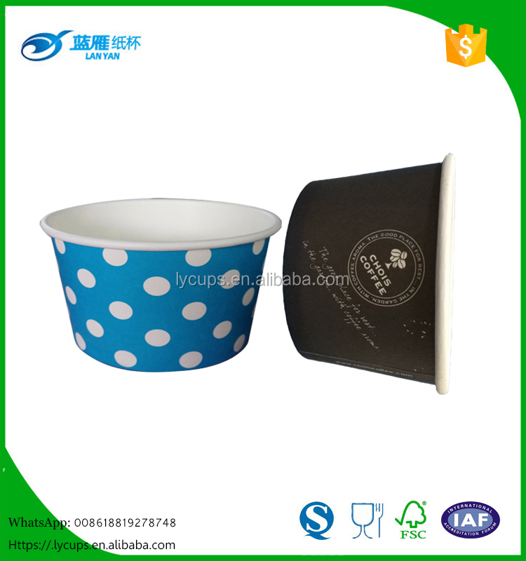 8.5oz recycled ice cream paper cups /bowl with lid