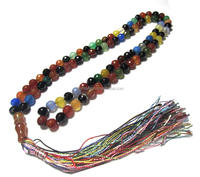 99pcs natural agate beads tassel tesbih long prayer beads islamic Muslim tasbih