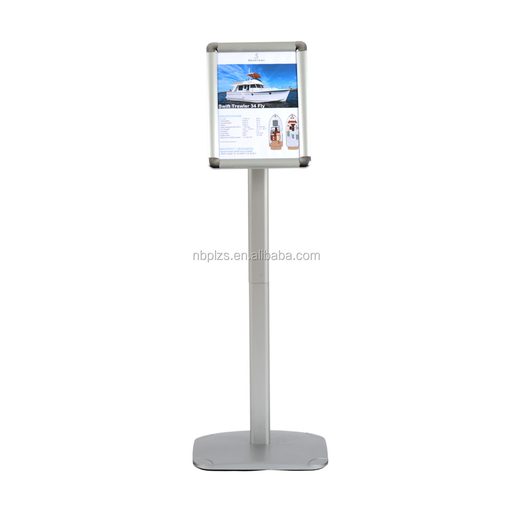 Satin Aluminum advertising floor stand 8.5*11 standard information stands