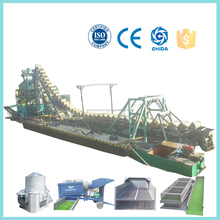 Gold bucket chain dredger chinese factory supplier competitive price