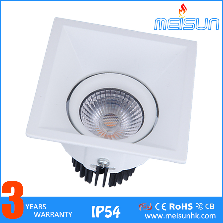 Die-casting Aluminun IP54 Led <strong>Spotlight</strong> 5w 7w 10w Cob Led Ceiling Light Ceiling Led Recessed Rotatable Cob Light