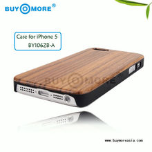 2013 Hot Sale china high quality wooden back cover for iphone 5