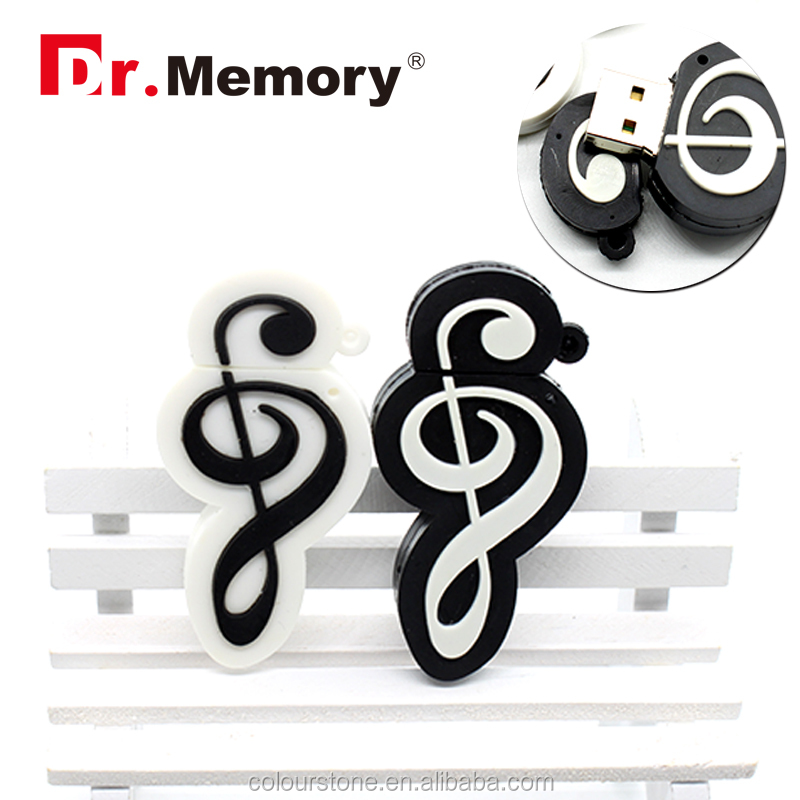 Dr.memory Hot Sale music note shape usb flash 2.0 drive,best gift for musician/music lovers