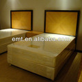 Double bed hotel furniture, Headboard and wood base matching (EMT-14055-1)
