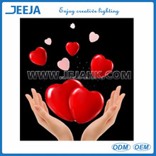 battery operated remote controlled led heart shape light for wedding centerpiece decoration